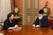 Святейший Патриарх Кирилл встретился с губернатором Ханты-Мансийского автономного округа Н.В. Комаровой