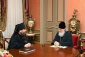 Святейший Патриарх Кирилл принял архиепископа Махачкалинского Варлаама