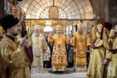 В Неделю сыропустную митрополит Киевский Онуфрий совершил Литургию и чин прощения в Киево-Печерской лавре