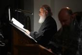 В понедельник первой седмицы Великого поста Святейший Патриарх Кирилл молился за уставным богослужением в Зачатьевском ставропигиальном монастыре
