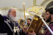 В канун Недели Торжества Православия Святейший Патриарх Кирилл совершил всенощное бдение в московском храме благоверного князя Игоря Черниговского в Переделкине