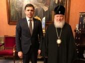 Святейший Патриарх Кирилл встретился с губернатором Орловской области А.Е. Клычковым