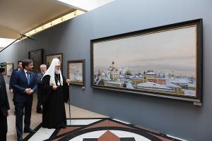 Святейший Патриарх Кирилл посетил выставку «Святая Гора и сокровенная Россия» в Храме Христа Спасителя