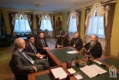 Блаженнейший митрополит Киевский Онуфрий встретился с главой миссии ОБСЕ по наблюдению за выборами на Украине