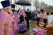 Глава Брянской митрополии совершил чин закладки камня в основание Дворца единоборств в Брянске