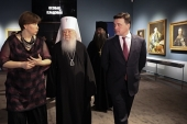 Патриарший наместник Московской епархии принял участие в открытии экспозиции «Русское искусство. Церковное и светское искусство» в музейно-выставочном комплексе «Новый Иерусалим»