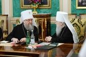 Συνεδρία τη Ιεράς Συνόδου της Ορθοδόξου Εκκλησίας της Ρωσίας υπό την προεδρία του Αγιωτάτου Πατριάρχη Κυρίλλου