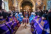 Блаженнейший митрополит Киевский Онуфрий возглавил чин наречения трех новоизбранных викарных епископов Украинской Православной Церкви