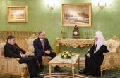Святейший Патриарх Кирилл встретился с Президентом Республики Молдова И.Н. Додоном