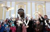 В праздник Благовещения престольные торжества состоялись в возрожденном древнем храме Смоленска