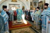 В праздник Благовещения Пресвятой Богородицы Патриарший экзарх всея Беларуси совершил Литургию в Свято-Духовом кафедральном соборе Минска