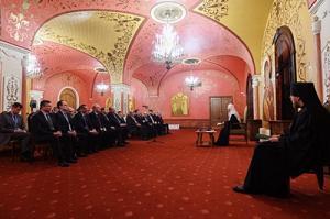 Святейший Патриарх Кирилл провел традиционную встречу со слушателями Высших дипломатических курсов