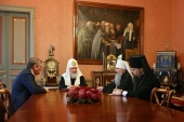 Состоялась встреча Святейшего Патриарха Кирилла с губернатором Кировской области и главой Вятской митрополии
