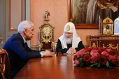 Святейший Патриарх Кирилл встретился с главой Республики Дагестан В.А. Васильевым
