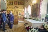 В третью годовщину со дня преставления архимандрита Петра (Афанасьева) в Троицком Александро-Невском монастыре в Акатове совершено заупокойное богослужение
