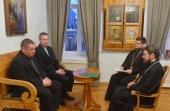 Митрополит Волоколамский Иларион принял делегацию Фонда «Кирхе-ин-Нот»
