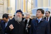 Митрополит Астанайский и Казахстанский Александр и аким Алма-Аты Б.К. Байбек провели совещание по вопросам реставрации Вознесенского кафедрального собора