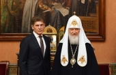 Состоялась встреча Святейшего Патриарха Кирилла с губернатором Приморского края О.Н. Кожемяко