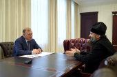 Вопросы укрепления межконфессионального согласия в регионе обсудили на встрече архиепископа Майкопского Тихона с главой Адыгеи