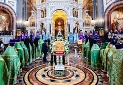 Патриаршая проповедь в праздник Входа Господня в Иерусалим после Литургии в Храме Христа Спасителя
