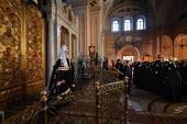 Патриаршая проповедь в канун Великого Вторника в Иоанно-Предтеченском ставропигиальном монастыре