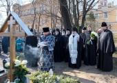 На 40-й день после кончины епископа Царскосельского Маркелла в Александро-Невской лавре совершено заупокойное богослужение