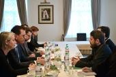 Митрополит Волоколамский Иларион встретился с министром экономического сотрудничества Германии