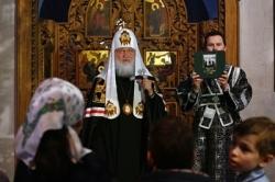 Патриаршая проповедь в канун Великой Среды в Андреевском ставропигиальном монастыре