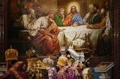 В Великий Четверток Святейший Патриарх Кирилл совершил Литургию и чин освящения мира в Храме Христа Спасителя