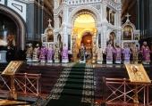 Проповедь Святейшего Патриарха Кирилла в Великий Четверток после Литургии в Храме Христа Спасителя