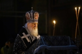В канун Великой Субботы Святейший Патриарх Кирилл совершил утреню с чином погребения в Храме Христа Спасителя