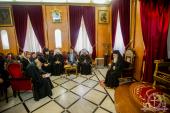 Блаженнейший Патриарх Иерусалимский Феофил IІІ принял делегацию Украинской Православной Церкви