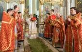 Патриарший экзарх всея Беларуси совершил пасхальные богослужения в Свято-Духовом кафедральном соборе Минска