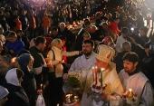 В праздник Пасхи митрополит Кишиневский Владимир возглавил торжественное богослужение в соборе Рождества Христова в Кишиневе