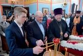 Президент Беларуси посетил храм Рождества Христова в агрогородке Острошицы Минской области