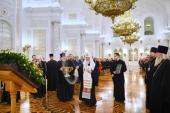 Святейший Патриарх Кирилл освятил Георгиевский зал Большого Кремлевского дворца