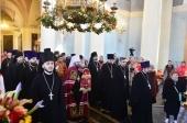 Представители Поместных Православных Церквей поздравили митрополита Волоколамского Илариона с Пасхой Христовой