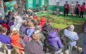 В Светлую среду казаки провели пасхальную акцию в московском центре «Ангар спасения»