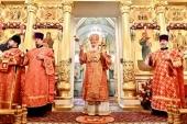В 20-ю годовщину канонизации блаженной Матроны Московской Святейший Патриарх Кирилл совершил Литургию в Покровском ставропигиальном монастыре