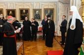 Святейший Патриарх Кирилл встретился с группой паломников Римско-Католической Церкви
