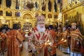 В пятницу Светлой седмицы Святейший Патриарх Кирилл совершил Литургию в Троице-Сергиевой лавре