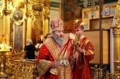 В субботу Светлой седмицы митрополит Киевский Онуфрий возглавил праздничную Литургию в Почаевской лавре