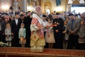 В Неделю 2-ю по Пасхе Предстоятель Украинской Православной Церкви совершил Литургию в Банченском монастыре