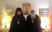 Состоялась встреча временно управляющего Патриаршими приходами в США с Предстоятелем и членами Синода Православной Церкви в Америке