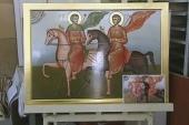 Курские иконописцы передали икону для древнего сирийского монастыря
