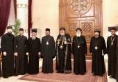 Состоялась встреча делегации Московской духовной академии во главе с архиепископом Верейским Амвросием с Патриархом Коптским Тавадросом II