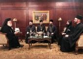 Предстоятель Александрийской Православной Церкви встретился с ректором Московских духовных школ