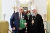 Посол Болгарии в Казахстане В. Петков удостоен высокой награды Казахстанского митрополичьего округа