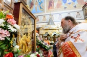 Завершилось пребывание чудотворного Феодоровского образа Божией Матери в Караганде