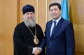 Состоялась встреча главы Казахстанского митрополичьего округа с акимом Карагандинской области